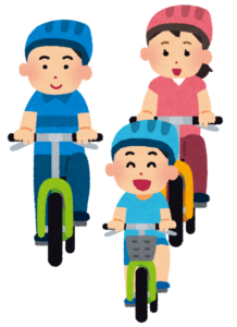 サイクリングする一団