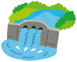 ダムの放水