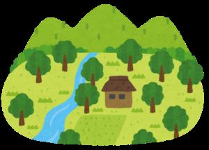過疎地の村の風景
