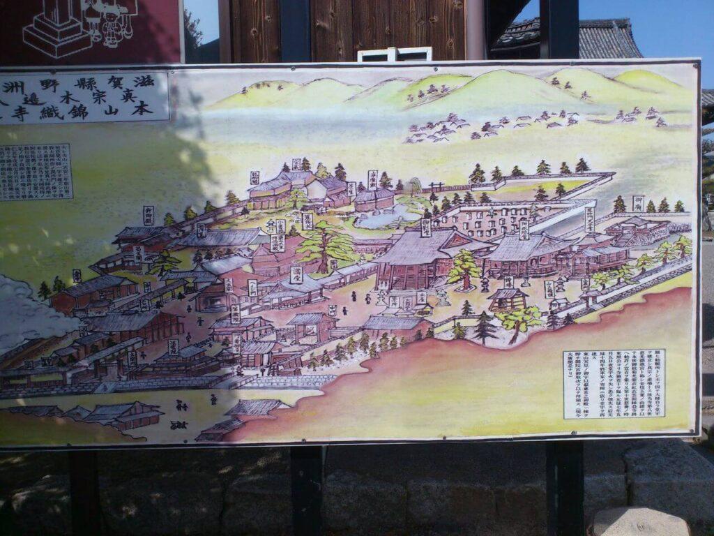 本山 錦織寺の絵地図