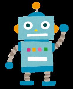青いロボット