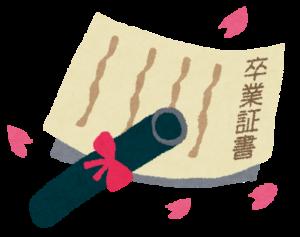 卒業証書と筒