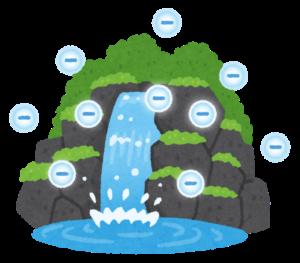滝のマイナスイオン