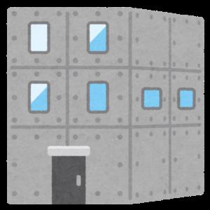 コンクリート打ちっ放しの建物