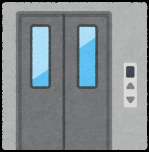 ドアが閉まったエレベーター