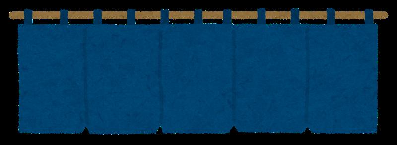 紺色の暖簾