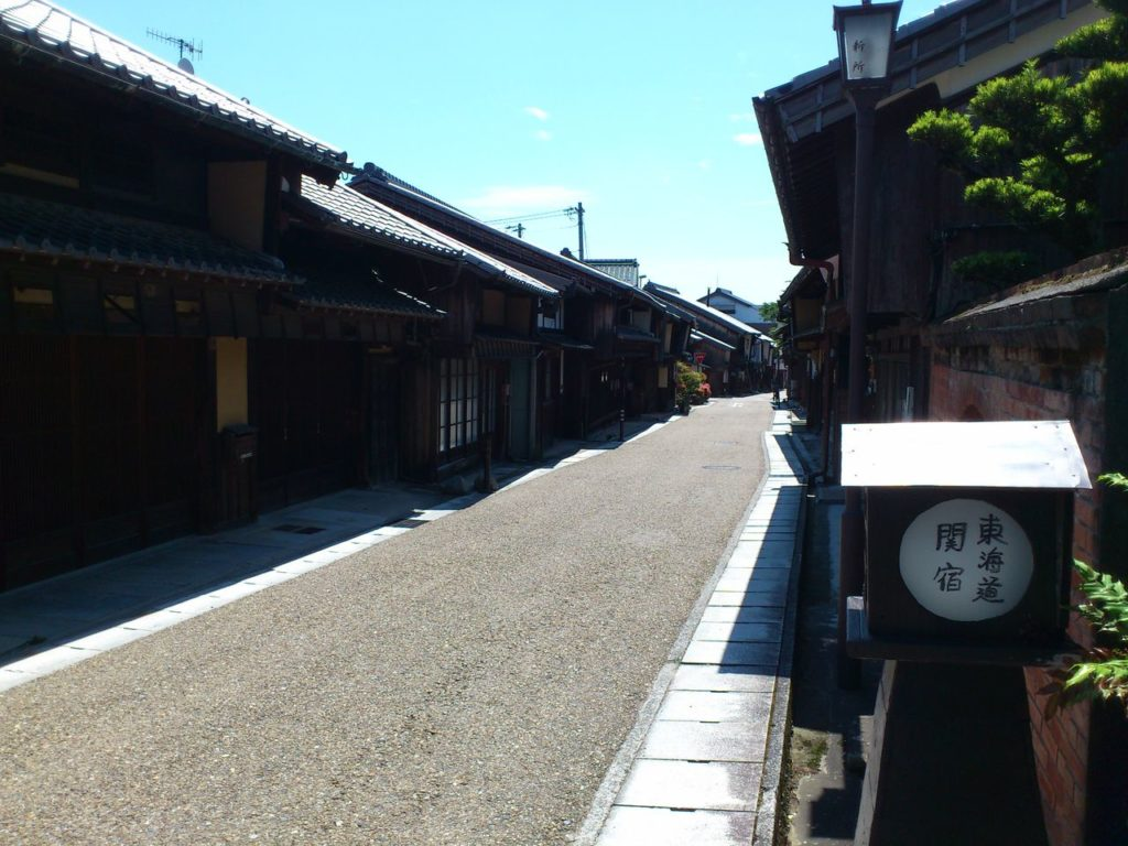 旧東海道の関宿のまち並み
