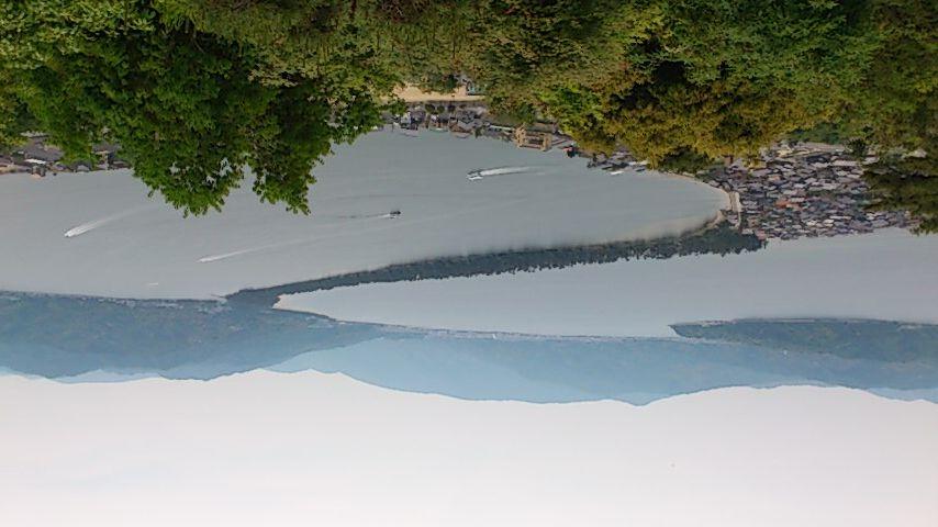 傘松公園から股のぞきで見た天橋立