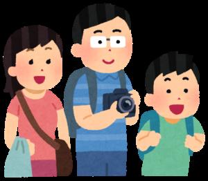 観光客の家族