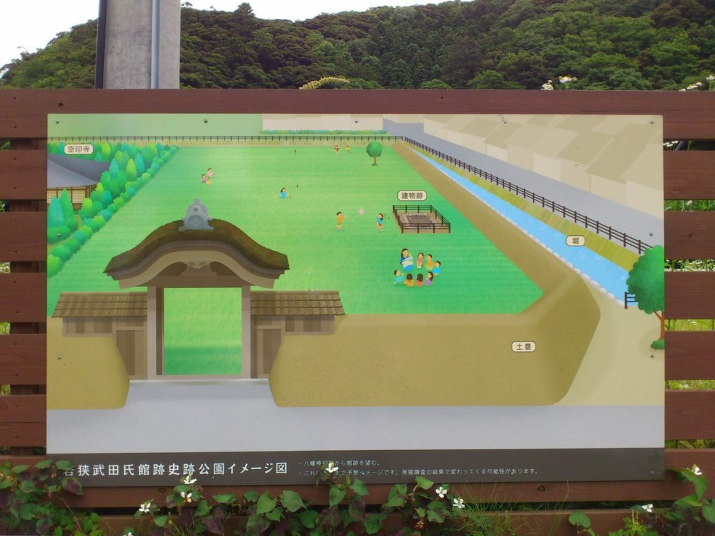 若狭武田氏館跡史跡公園イメージ図
