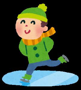 スケートする男性