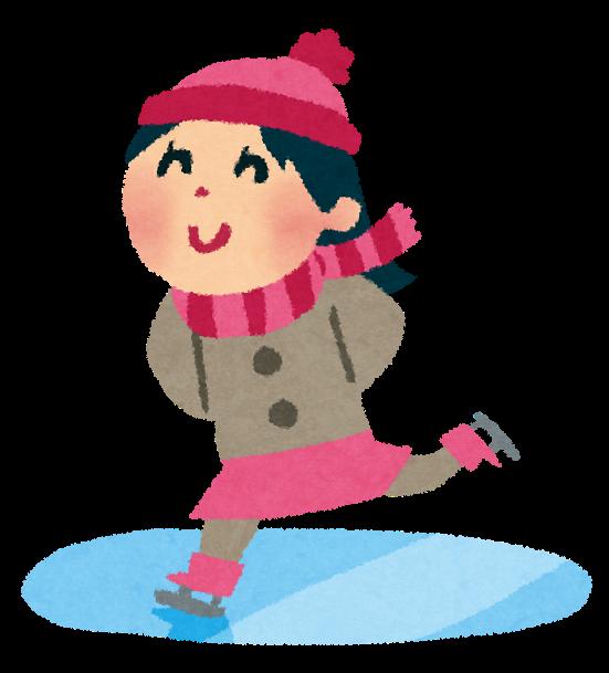 スケートをする女性