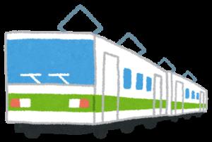 緑のラインの電車