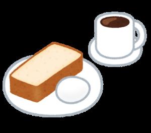 喫茶店のモーニングセット