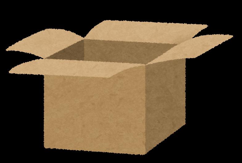 空のダンボール箱