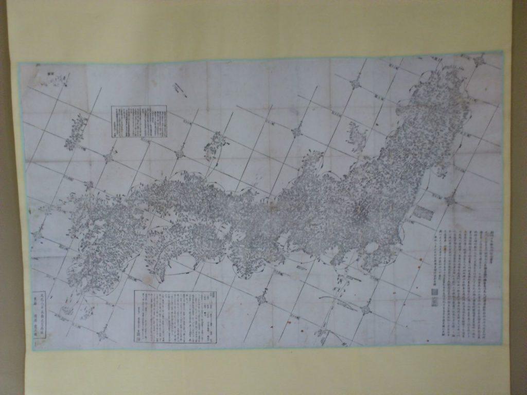 京藤甚五郎家の床の間の地図