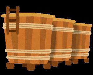 酒蔵の酒樽