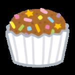 茶色のカップケーキ