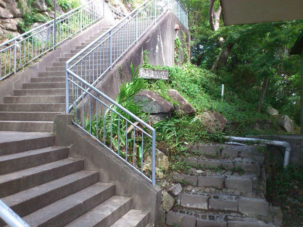 八幡山の下山道