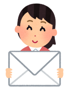 メールを届ける女性