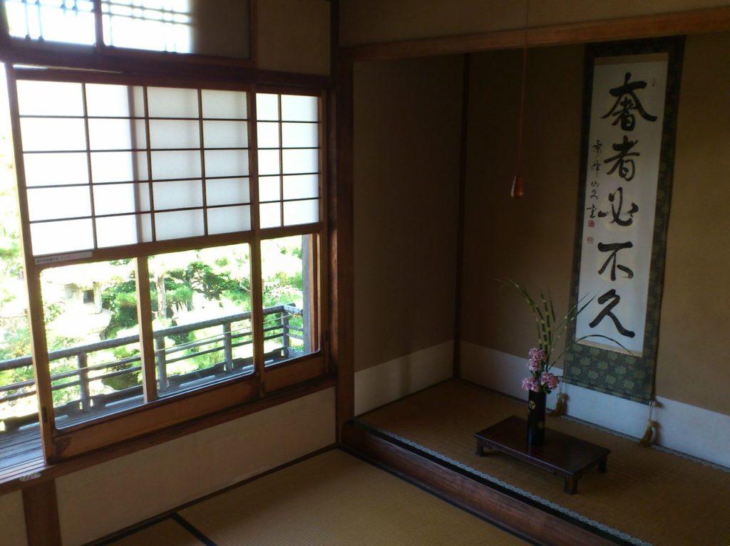 中江準五郎邸二階の掛け軸