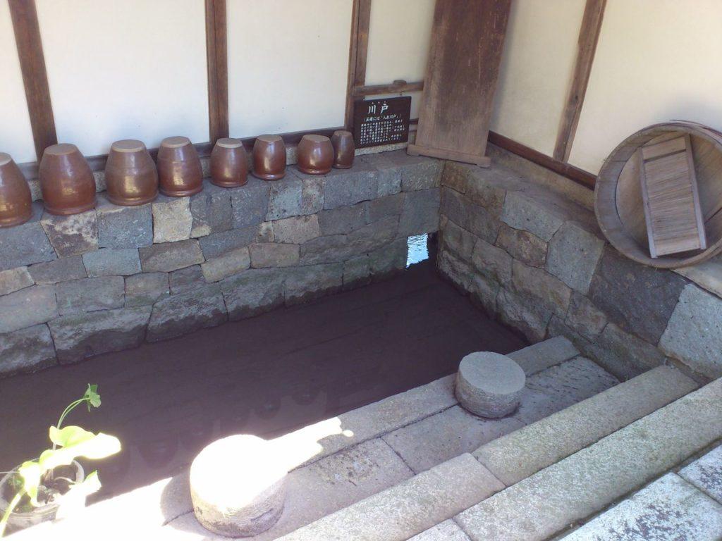 外村繁邸の川戸