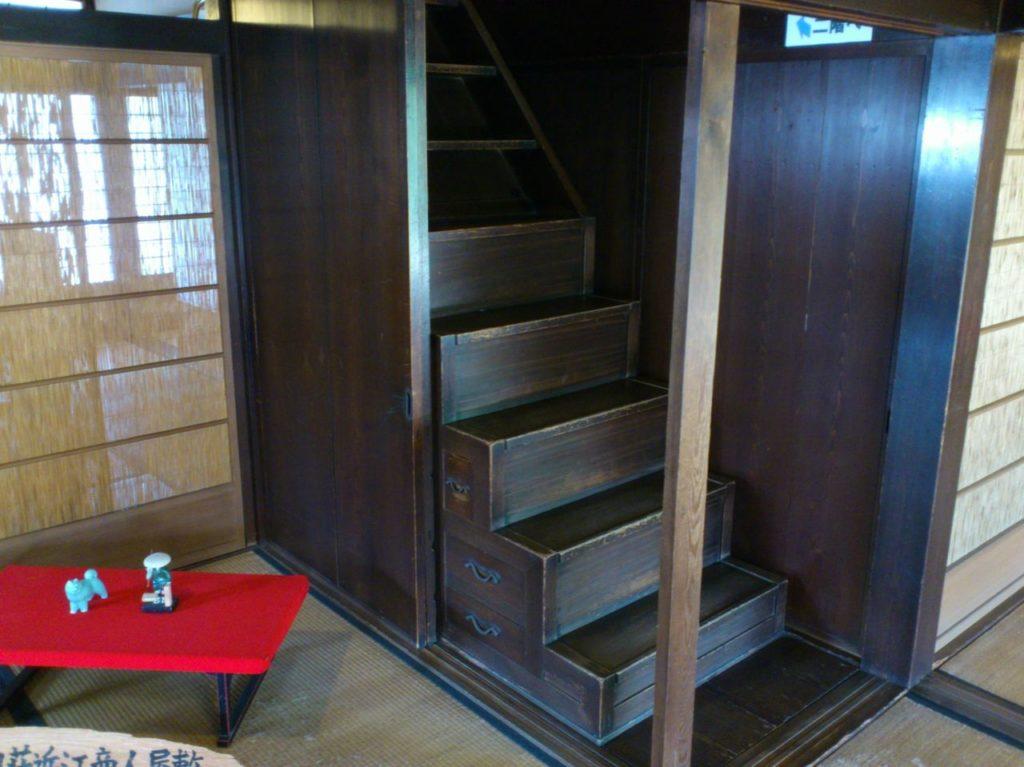 外村宇兵衛邸の階段