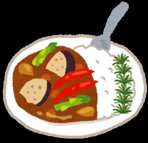 ローズマリーが乗った野菜カレー