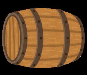 横になった樽