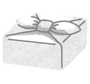 ビニールの風呂敷包み