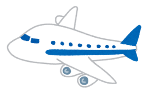 青いラインの飛行機
