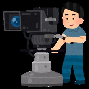 テレビ局のカメラマン