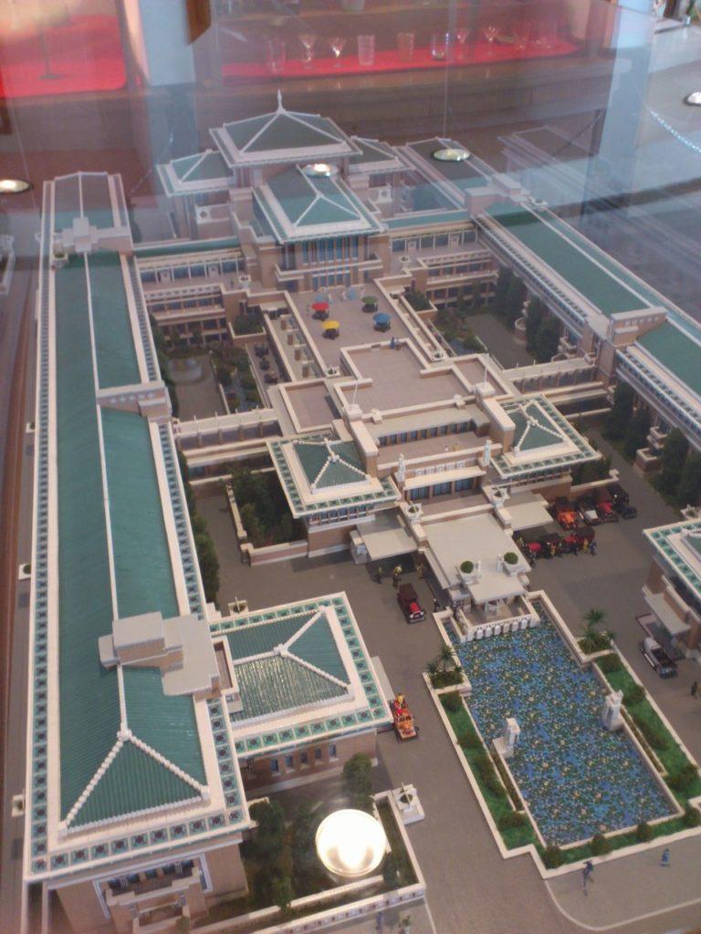 旧帝国ホテルの模型(日本大正村)