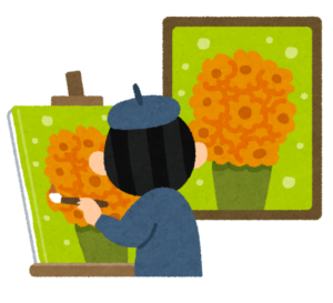 絵画の模写