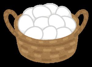 カゴ一杯の卵