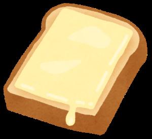 チーズを乗せたトースト