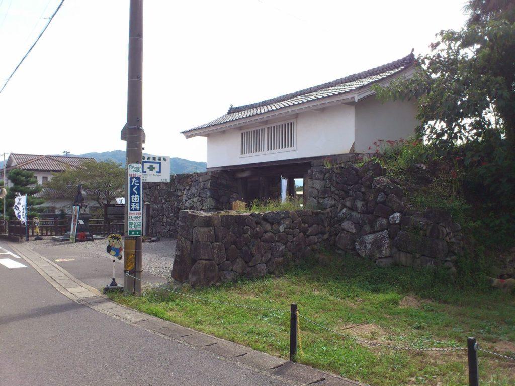 竹中氏陣屋跡の櫓門