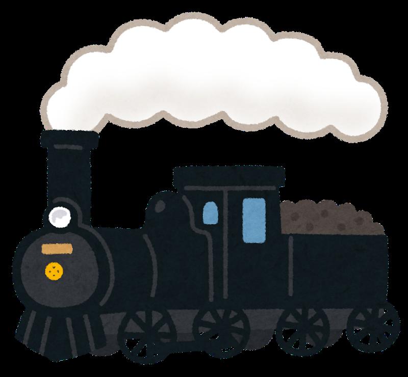 煙を出す蒸気機関車
