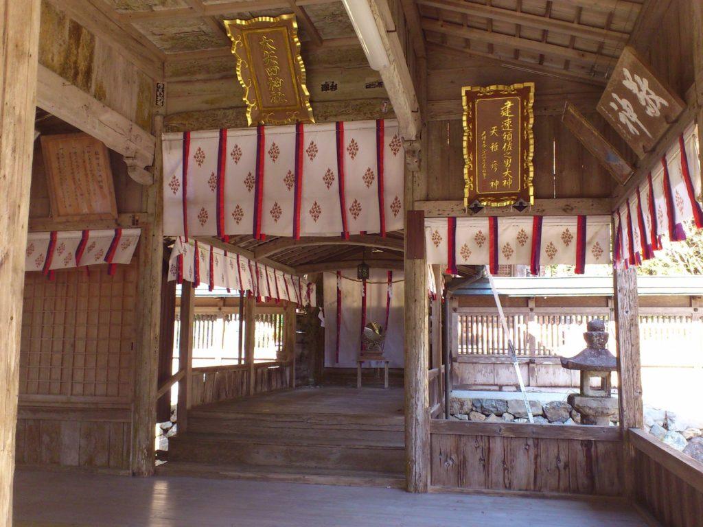 大矢田神社の拝殿