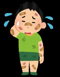 怪我をした少年