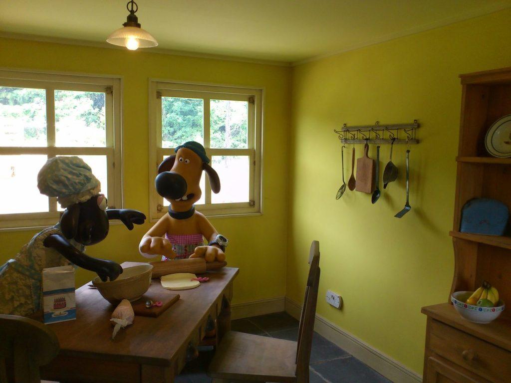 牧場主の家の台所