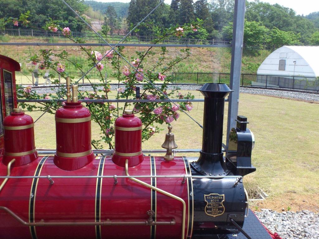 蒸気機関車風の電車