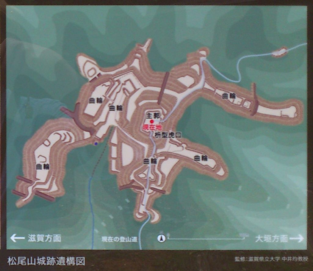 松尾山城跡遺構図