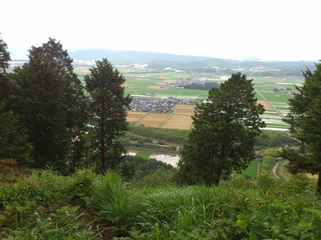 雪野山頂上からの景色