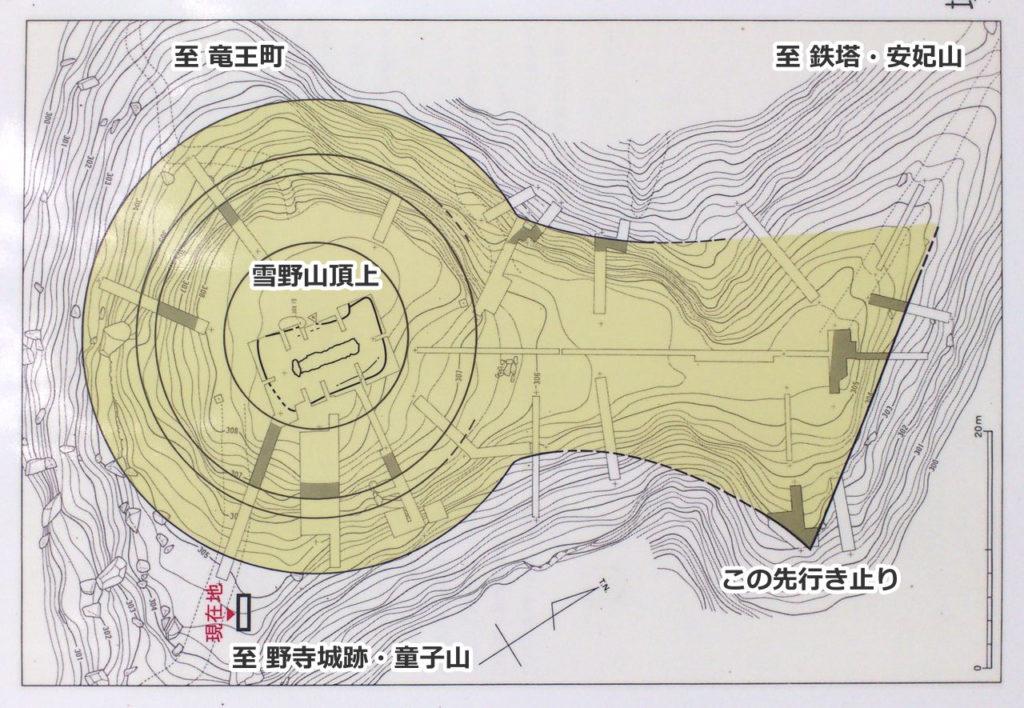 雪野山古墳の墳丘形態復元図