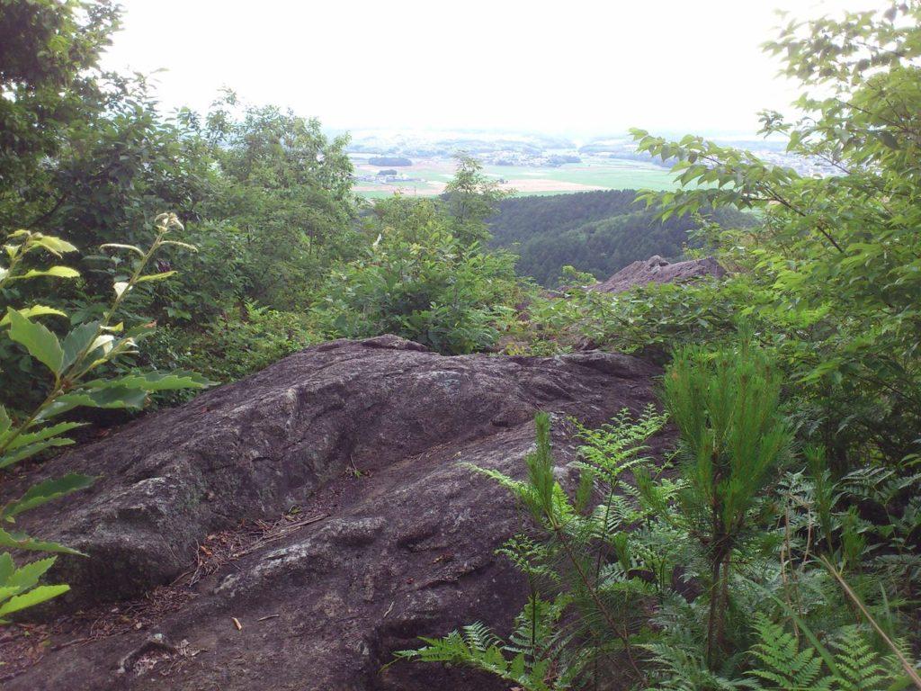 絶景の大岩