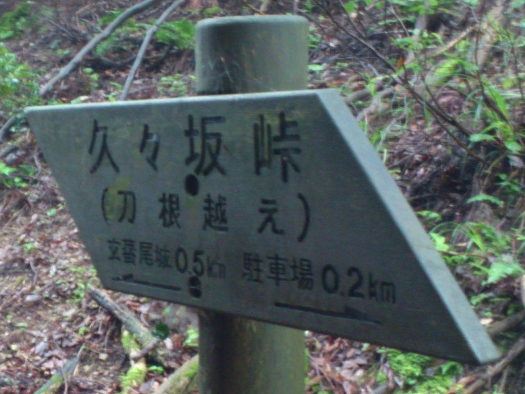 敦賀道の刀根越え
