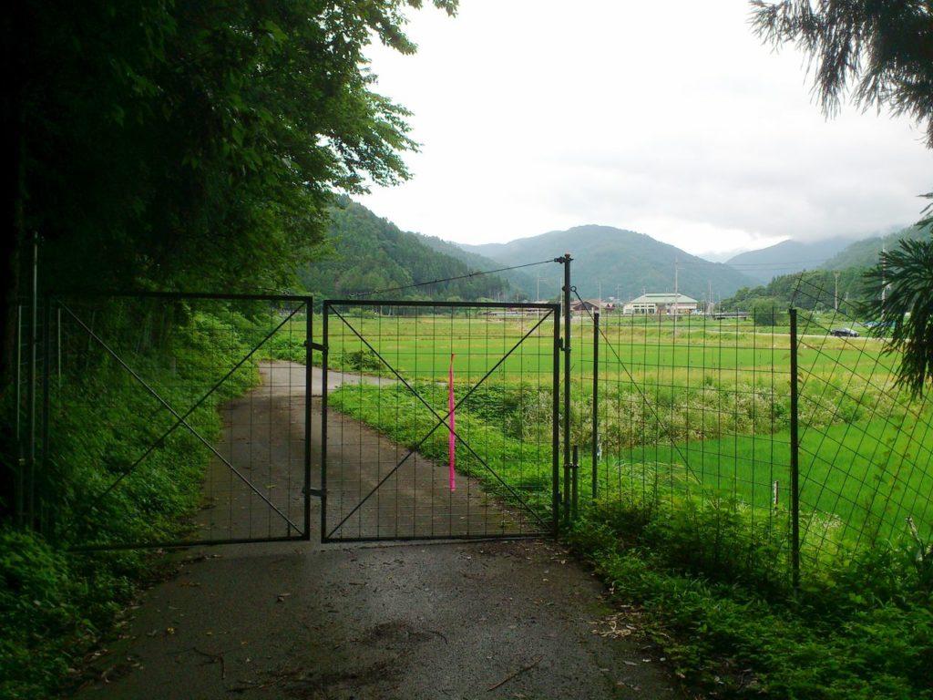 大依山林道の郷野入り口