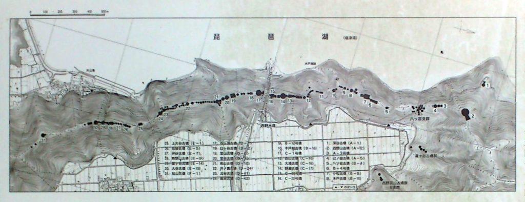 古保利古墳群の分布図