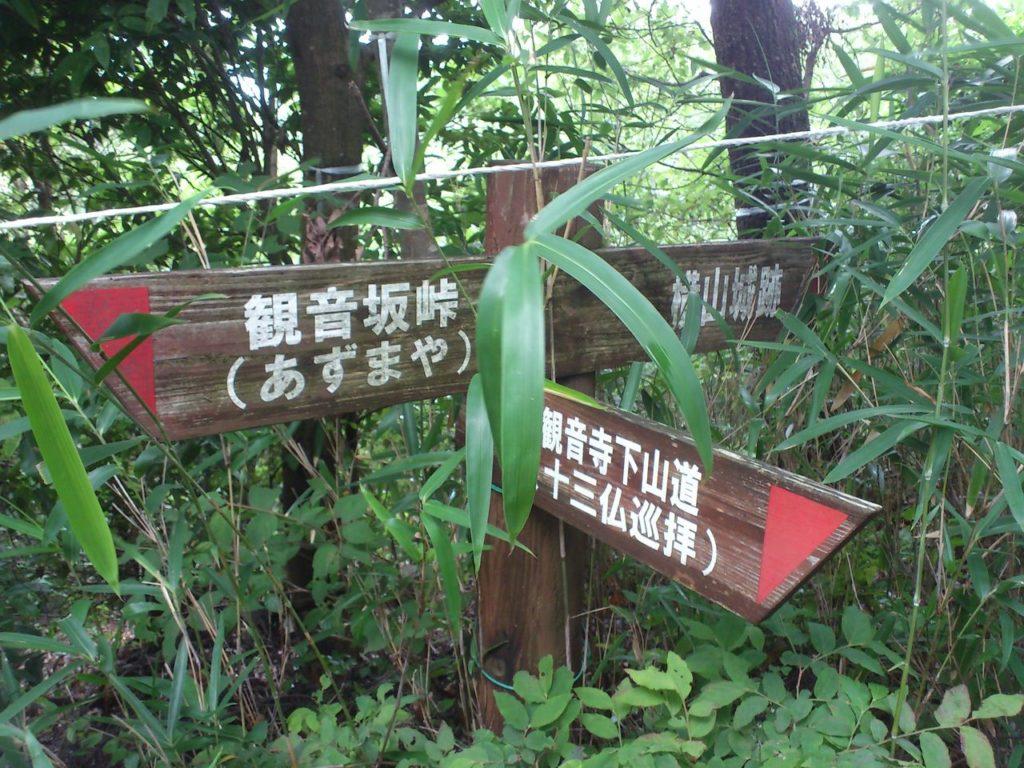 観音寺への分岐点